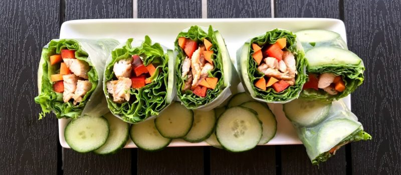 chicken salad rolls